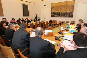 R�union de la commission mixte paritaire au S�nat le 216 janvier 2011 � S�nat