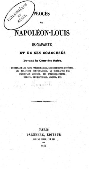 Proc�s de Napol�on-Louis Bonaparte